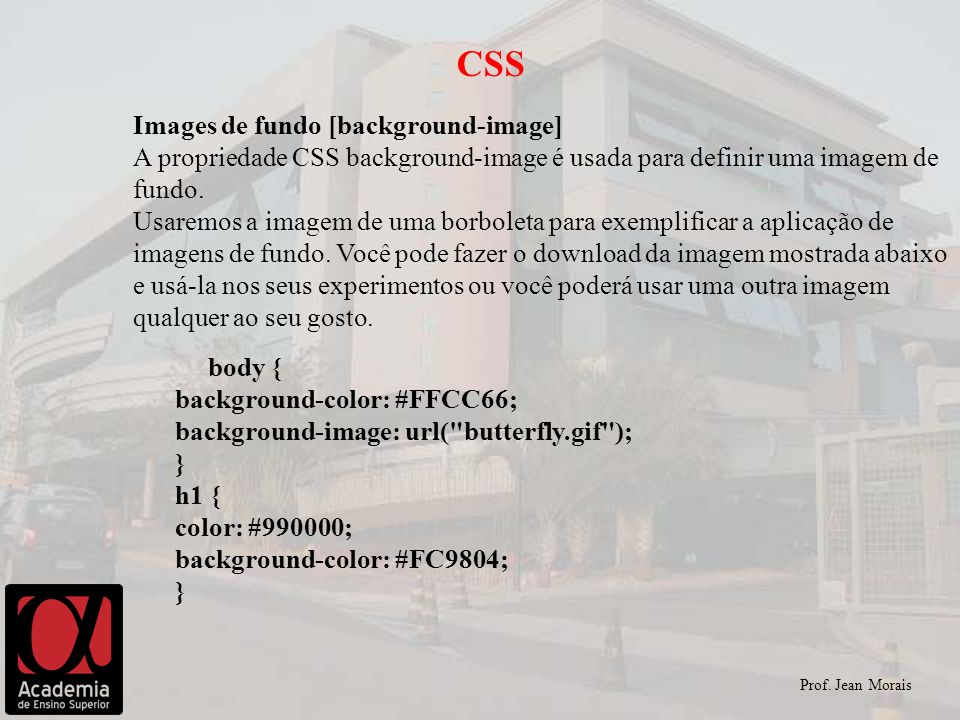 CSS Images de fundo [background-image]